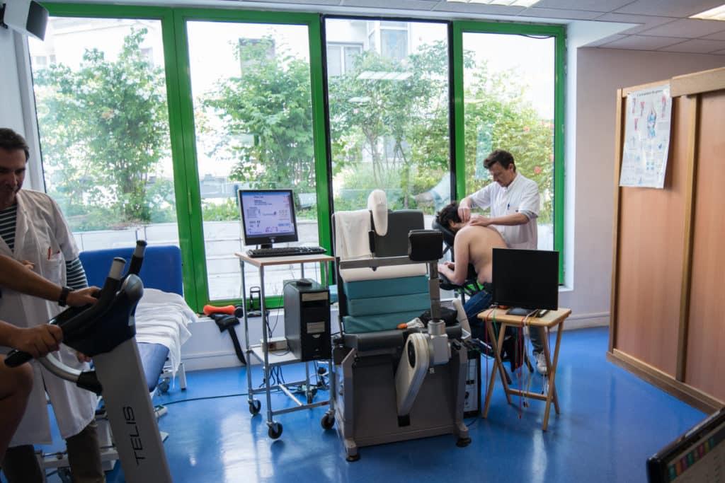 salle de rééducation - chirurgie épaule